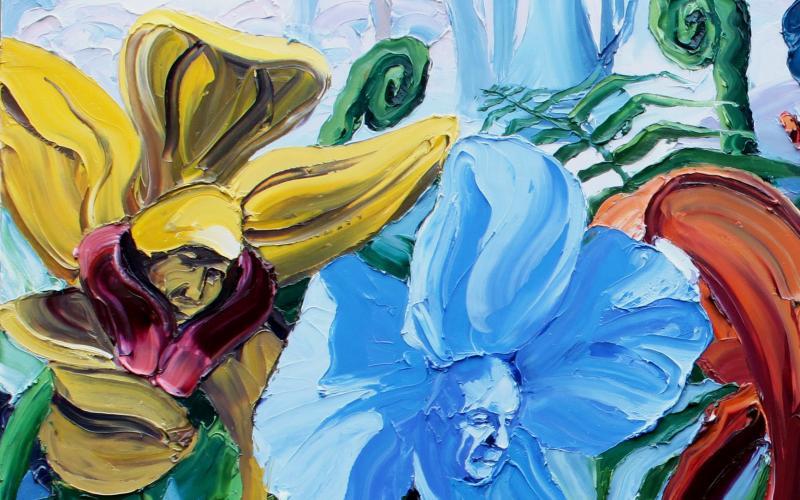 Garden of Earthly Delights Giclee art print of Original Artwork by Steve Tyerman 139288346