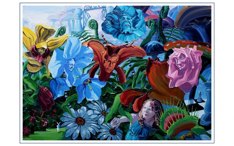 Garden of Earthly Delights Giclee art print of Original Artwork by Steve Tyerman 139288951