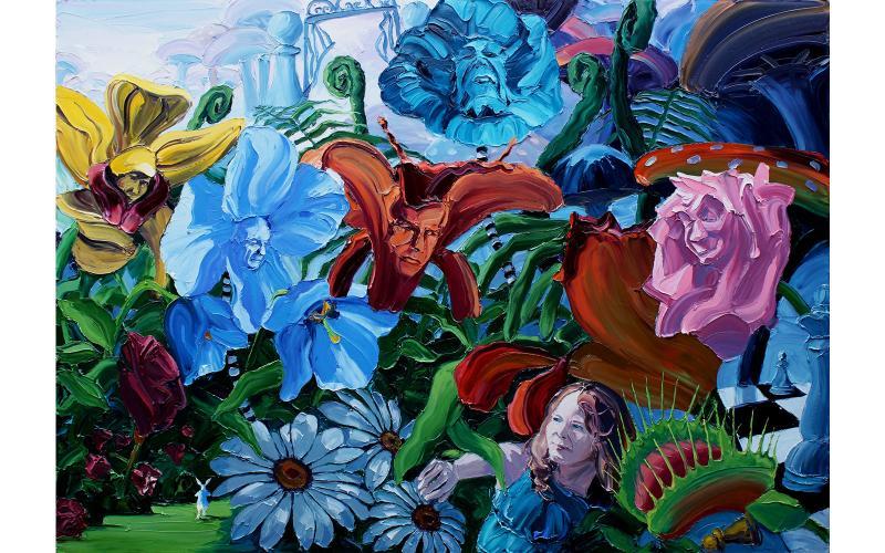 Garden of Earthly Delights Giclee art print of Original Artwork by Steve Tyerman 139288321