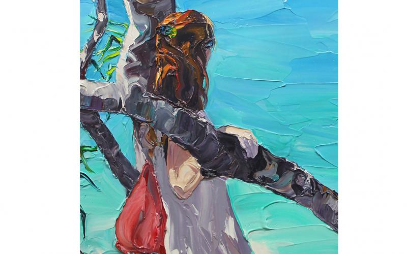 And Whisper A Secret To The Sea Giclee art print of Original Artwork by Steve Tyerman 466552992