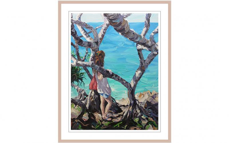 And Whisper A Secret To The Sea Giclee art print of Original Artwork by Steve Tyerman 2056302278