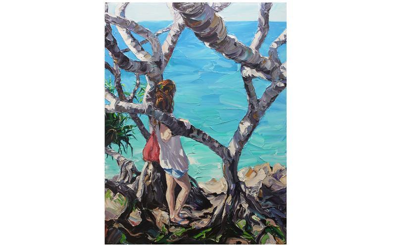 And Whisper A Secret To The Sea Giclee art print of Original Artwork by Steve Tyerman 1299495639