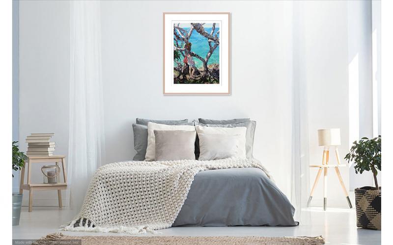 And Whisper A Secret To The Sea Giclee art print of Original Artwork by Steve Tyerman 612694119