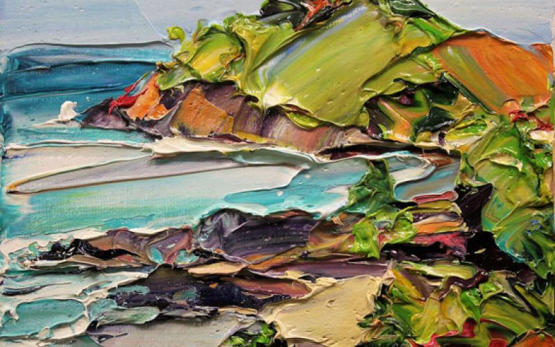 Coastline 2 Giclee art print of Original Artwork by Steve Tyerman 1554883372