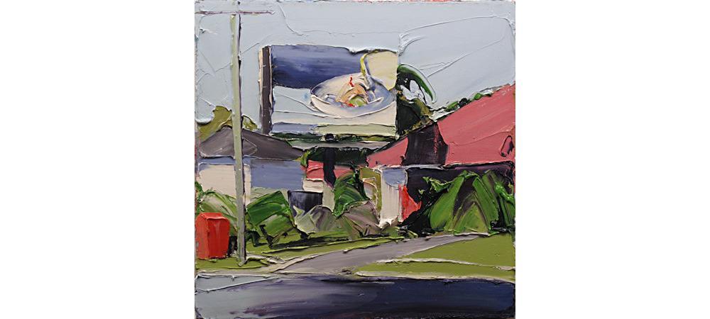 Suburban Landscape (Hollywell); Firestation & Billboard by Steve Tyerman
